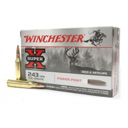 20 CARTOUCHES WINCHESTER 243 WIN 100GR PP