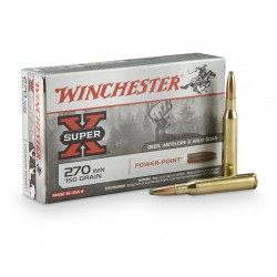 20 CARTOUCHES WINCHESTER 270 WIN 150GR PP