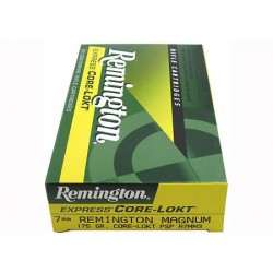 20 CARTOUCHES REMINGTON 7MM REM MAG 175GR CLPSP