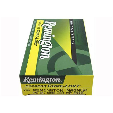 20 CARTOUCHES REMINGTON 7MM-08 REM 140GR CLPSP