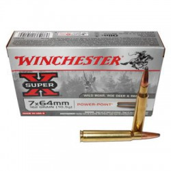 20 CARTOUCHES WINCHESTER 7X64 162GR PP