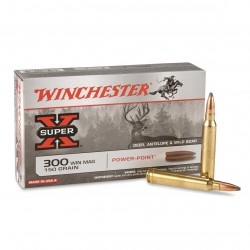 20 CARTOUCHES WINCHESTER 300 WIN MAG 150GR PP