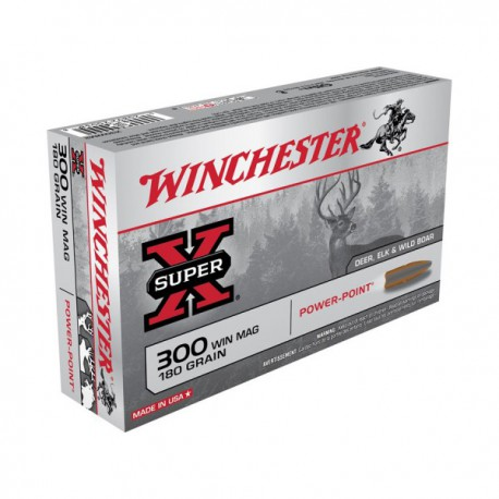 20 CARTOUCHES WINCHESTER 300 WIN MAG 180GR PP