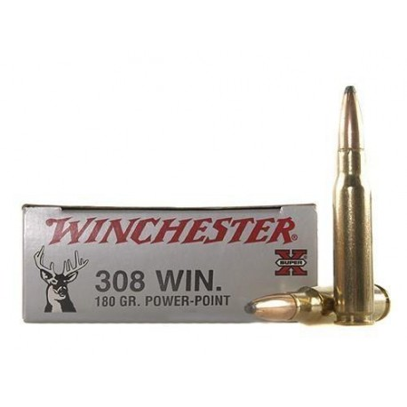 20 CARTOUCHES WINCHESTER 308 WIN 180GR PP