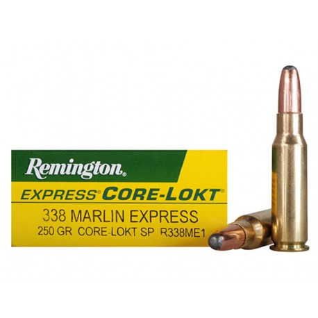 20 CARTOUCHES REMINGTON 338 MARLIN 250GR