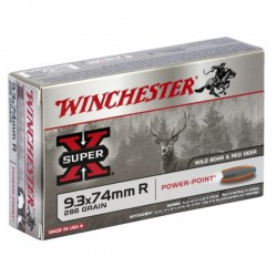 20 CARTOUCHES WINCHESTER 9.3X74R 286GR PP