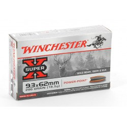 20 CARTOUCHES WINCHESTER 9.3X62 286GR PP