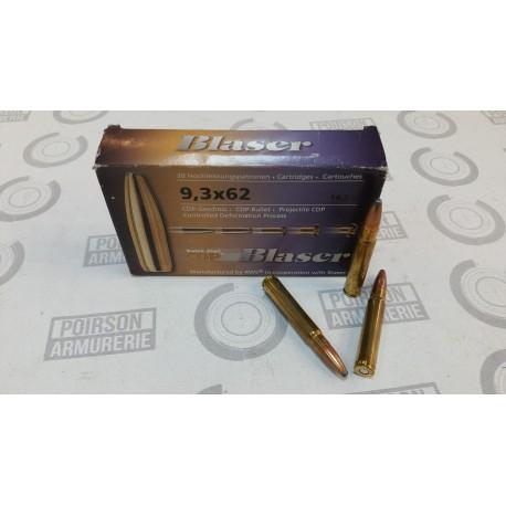 20 CARTOUCHES RWS 9.3X62 285GR CDP