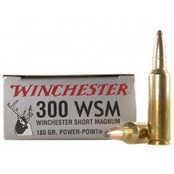 20 CARTOUCHES WINCHESTER 300 WSM 180GR PP