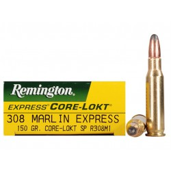 20 CARTOUCHES REMINGTON 308 MARLIN EXPRESS 150GR CLSP