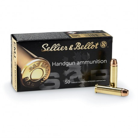 50 CARTOUCHES SELLIER & BELLOT 357 MAG 158GR FMJ