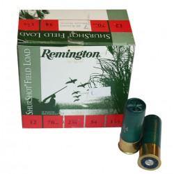 25 CARTOUCHES REMINGTON SHURSHOT FIELD LOAD 12/70