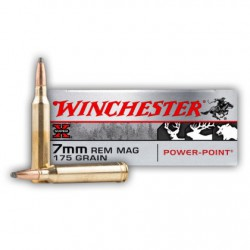 20 CARTOUCHES WINCHESTER 7MM REM MAG 175GR PP