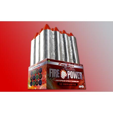 FEU D'ARTIFICE FIRE POWER FIRE SHOT 12 DEPARTS
