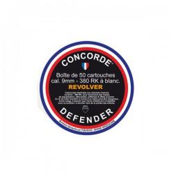 50 CARTOUCHES CONCORDE REVOLVER 9MM A BLANC