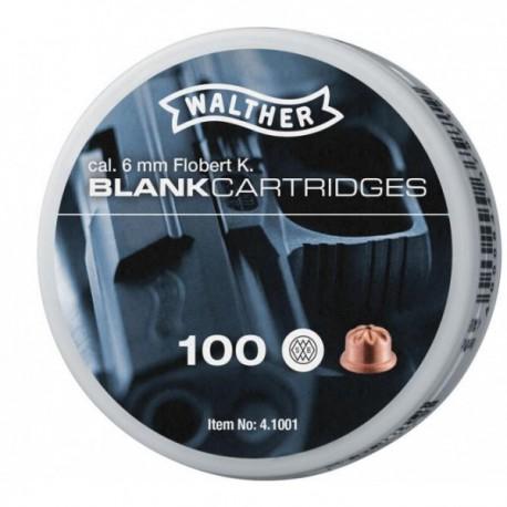 100 CARTOUCHES WALTHER 6MM FLOBERT A BLANC