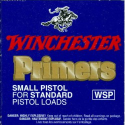 100 AMORCES WINCHESTER SMALL PISTOL STANDARD