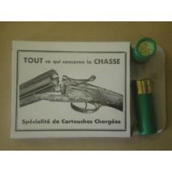 10 CARTOUCHES CALIBRE 12/65 POUDRE NOIRE N°4
