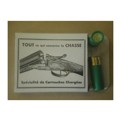 10 CARTOUCHES CALIBRE 12/65 POUDRE NOIRE N°9