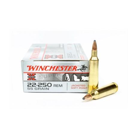 20 CARTOUCHES WINCHESTER 22-250 REM 55GR JSP