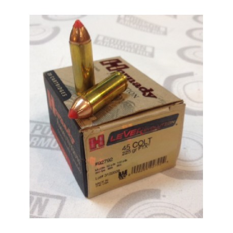 20 CARTOUCHES HORNADY 45 COLT LEVER EVO 225GR FTX