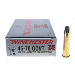 20 CARTOUCHES WINCHESTER 45-70 GOVT 300GR JHP