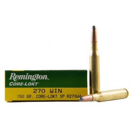 20 CARTOUCHES REMINGTON 270 WIN 150GR CLSP