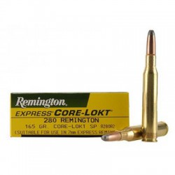 20 CARTOUCHES REMINGTON 280 REM 165GR CLSP